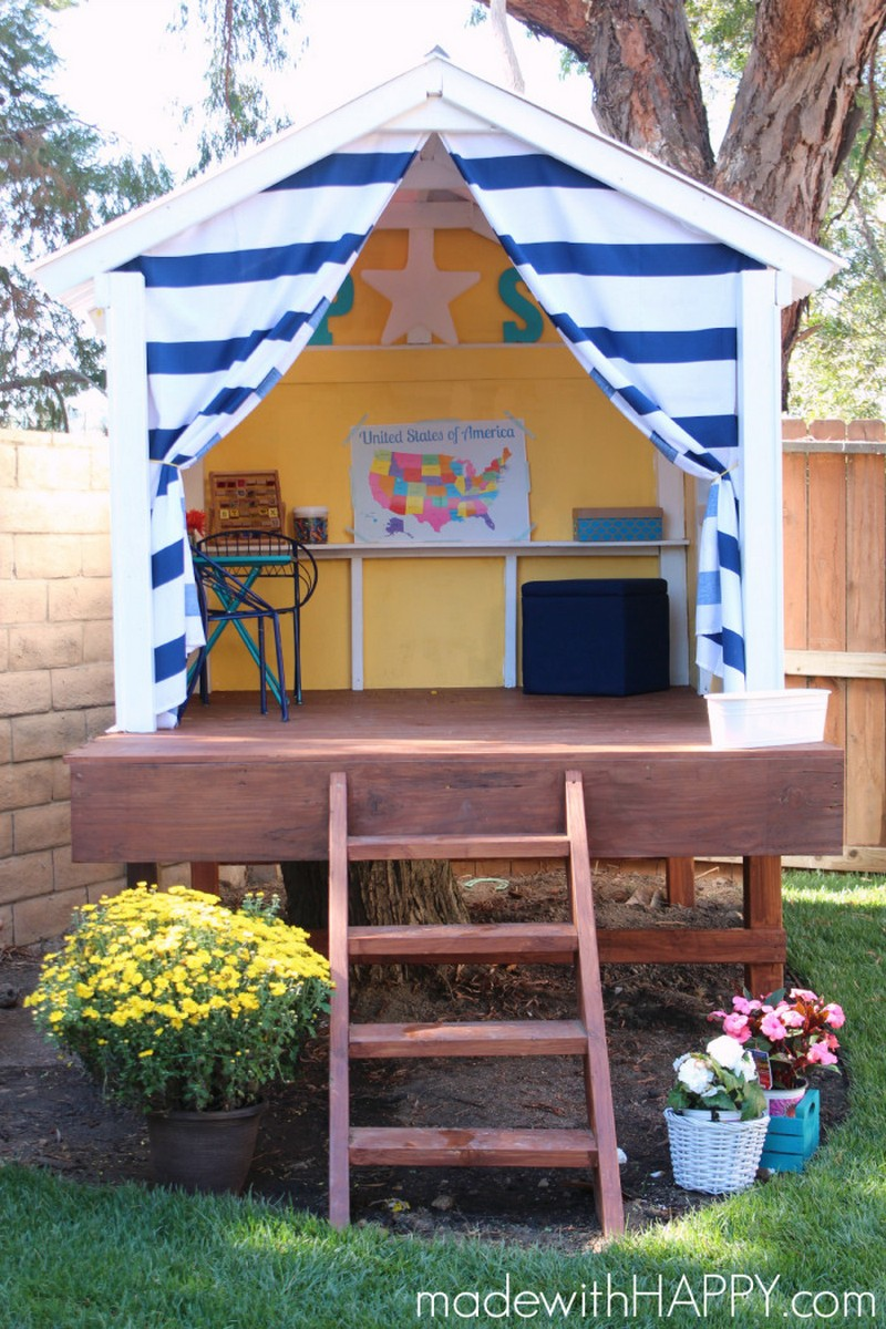 15 pimped out playhouses your kids need in the backyard for Easy to build playhouse