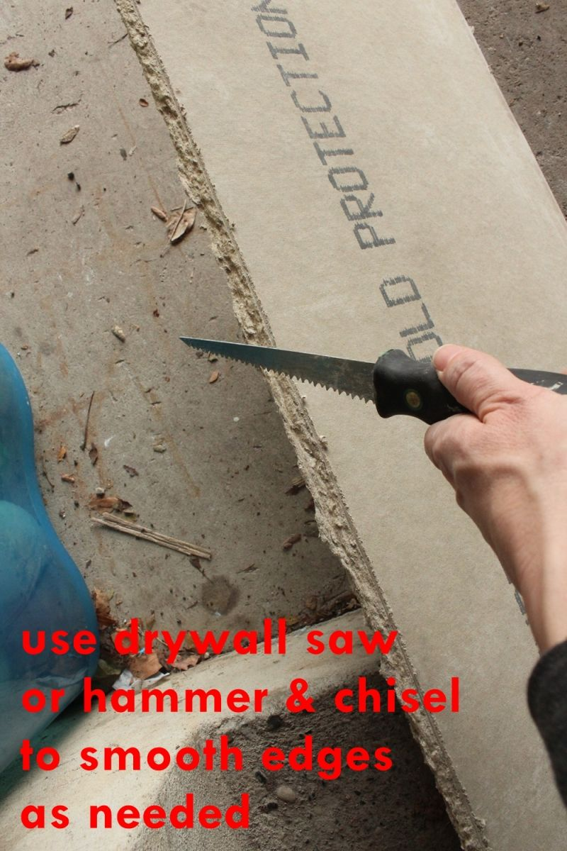 Use a drywall saw