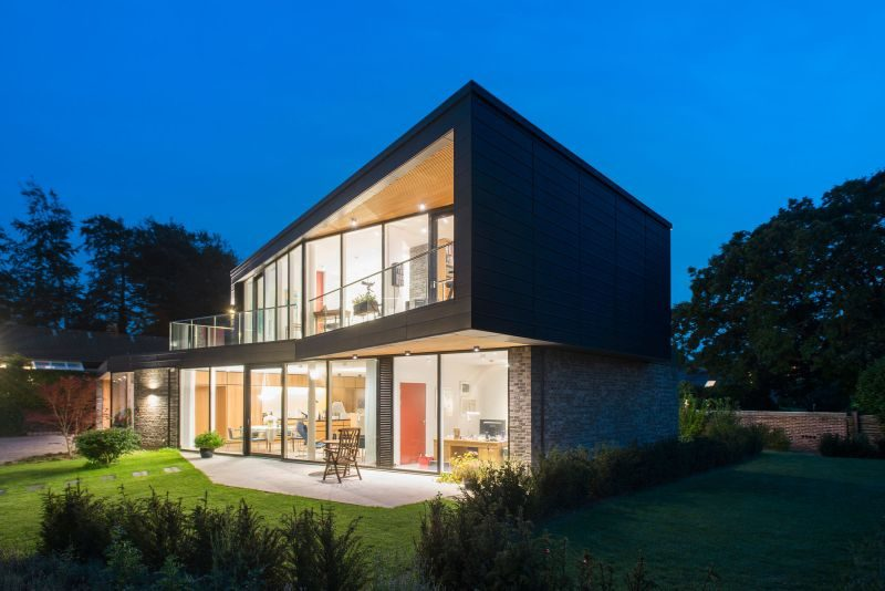 Danish Villa Has Two Floors That Mirror Each Other