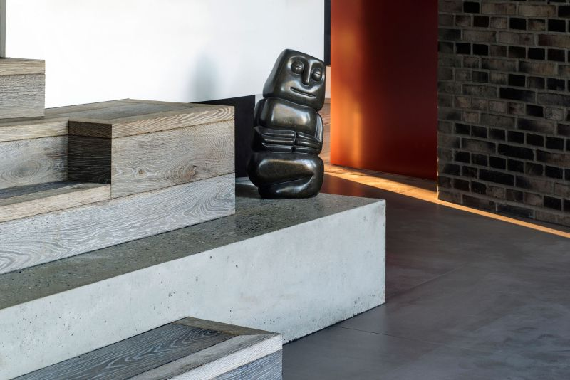 Villa U in Denmark staircase sculptures