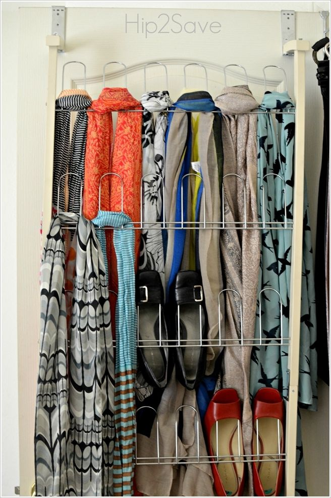 Wire wall storage for scarfs and shoe