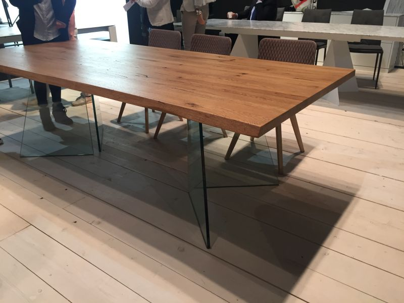 Wood top and glass legs for dining table. 99 Dining Room Tables That Make You Want A Makeover