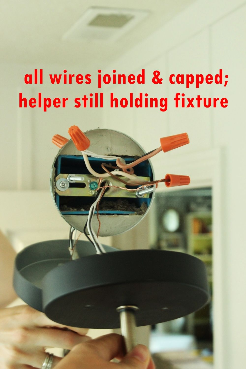 capped connection of all wires