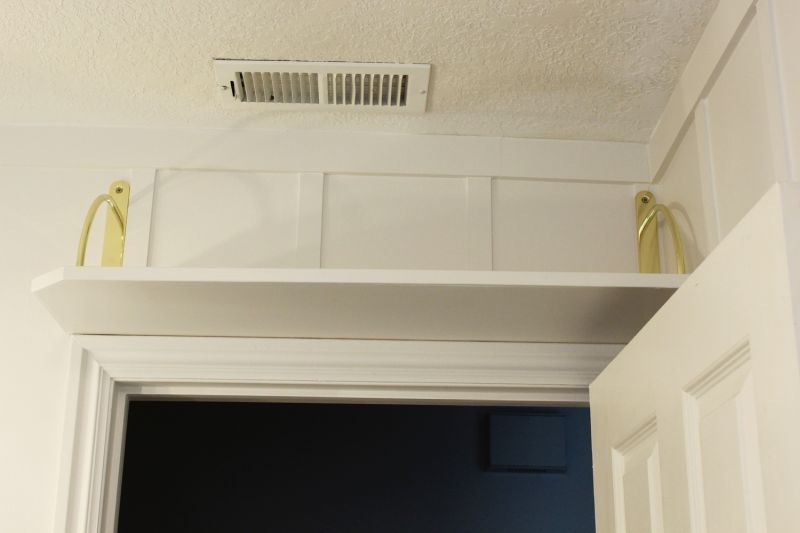 Diy Simple Above The Door Bathroom Storage Shelf