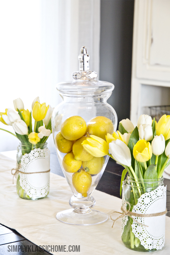 decorate with fresh lemons