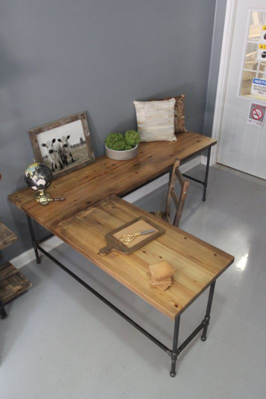 industrial l shaped desk