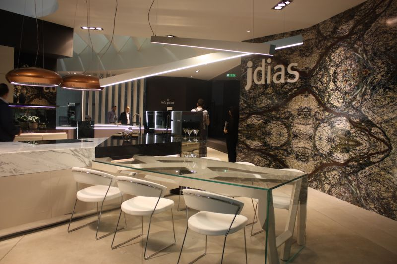 jdias also displayed these cool, minimalist light bars. The set of two bars provides ample kitchen lighting.