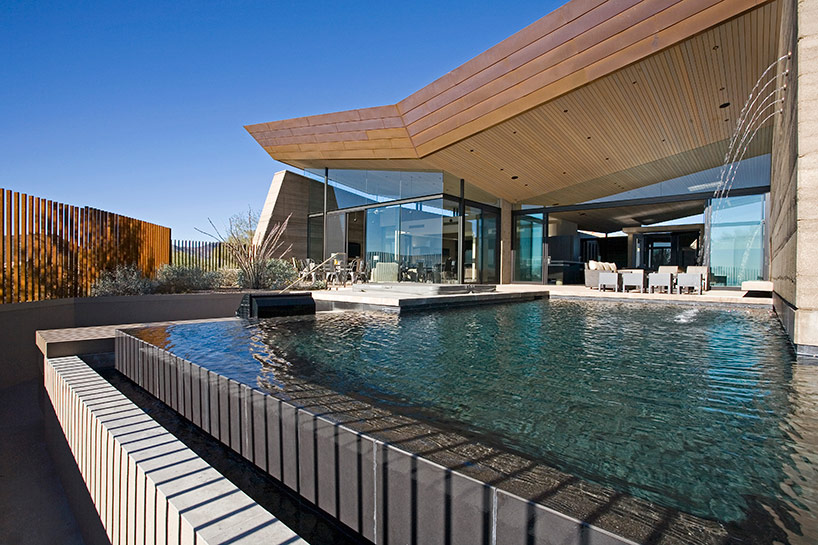 kendle design collaborative casts the desert wing house pool