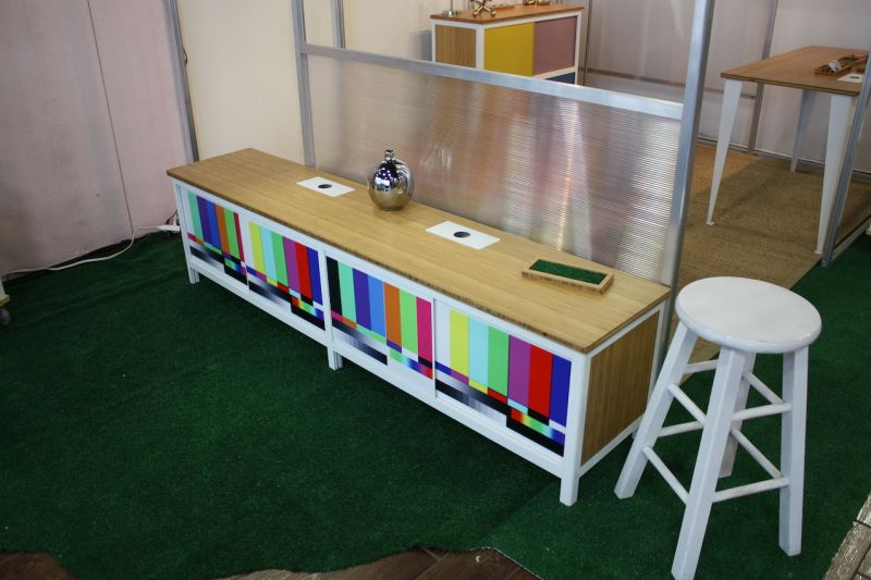 We first fell in love with Modify Furniture at IDS in Toronto this year. Designer Marci Klein -- a former pediatrician -- designs and builds the colorful and customizable polychrome pieces in her Connecticut studio.