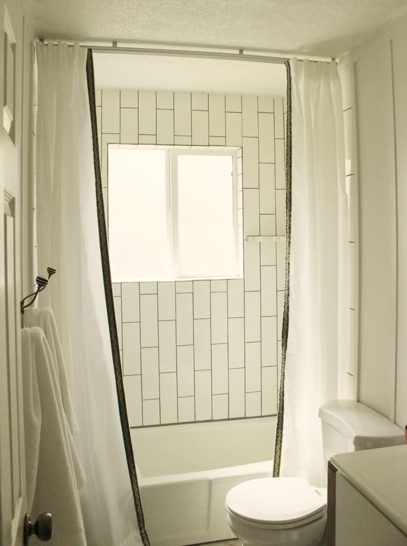 DIY Simple and Fast Customize Shower Curtains