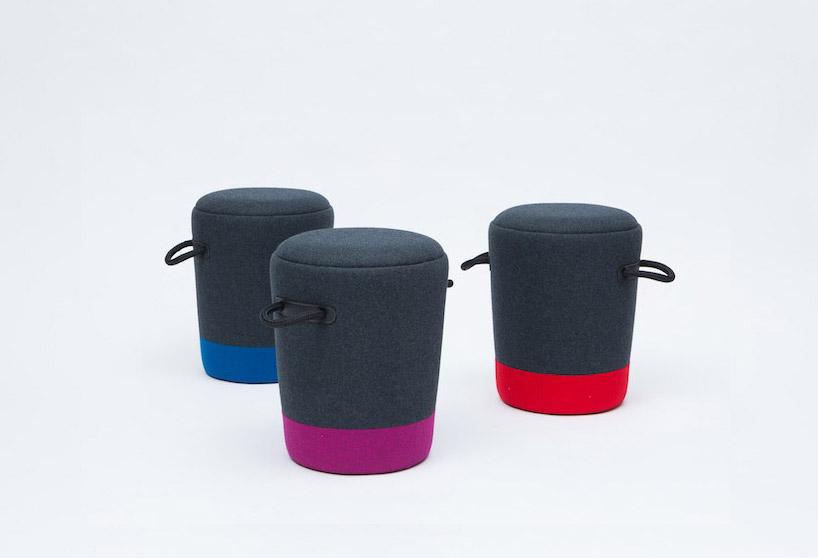 tim webber design duffel stool & ottoman