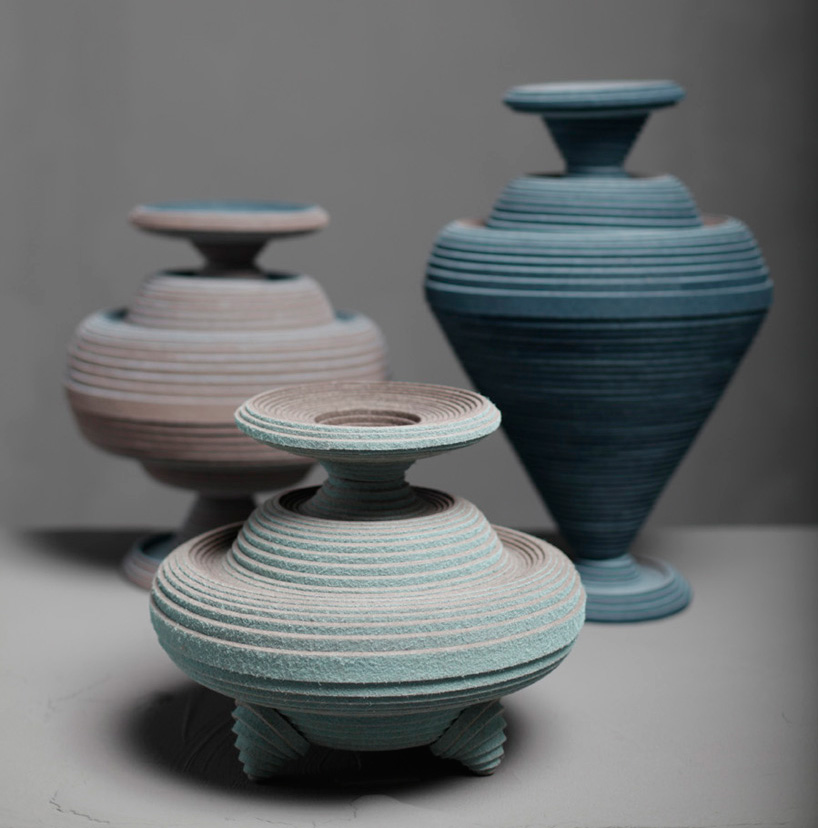 vessels made from felt coiled