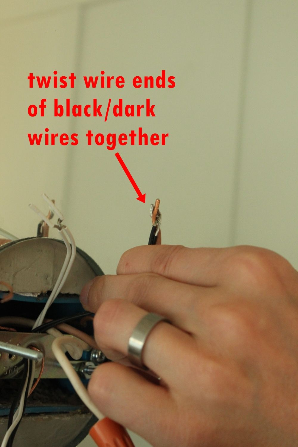 wire on the ends of your fixture wires