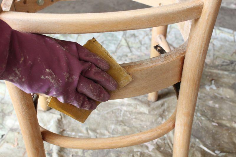 220-grit sandpaper