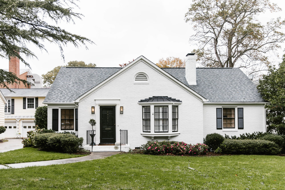 A Bright White House bold colors home exterior