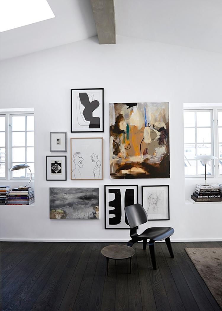 Abstract art photo wall