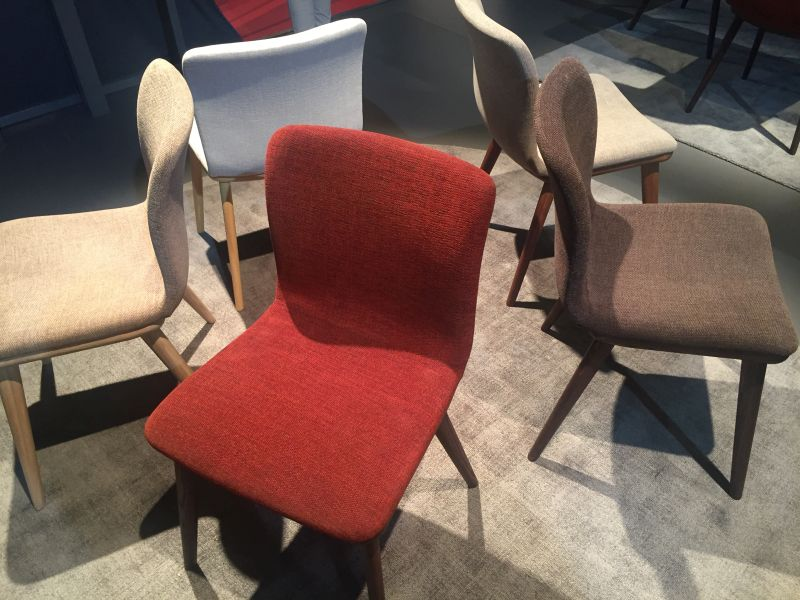 Annie dining chairs in diff colors from Calligaris