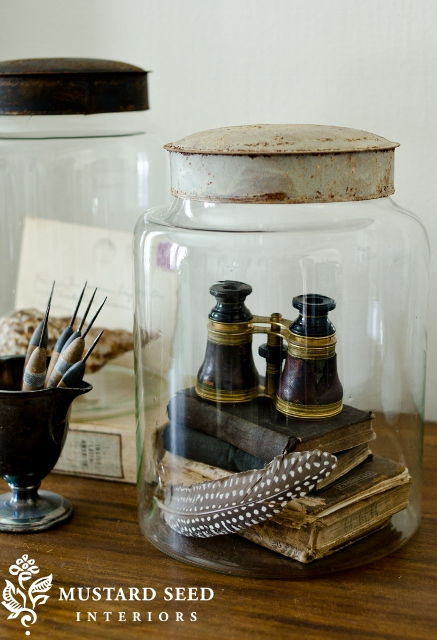 Apothecary jars decor accents