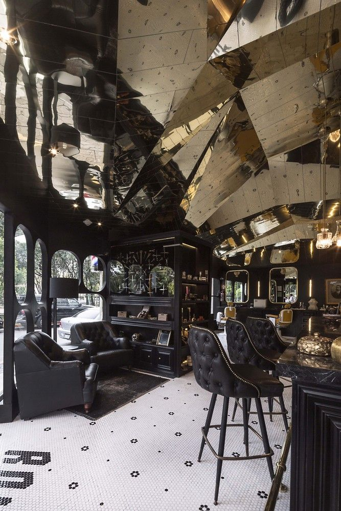 Barberia Royal by ROW Studio cool black decor