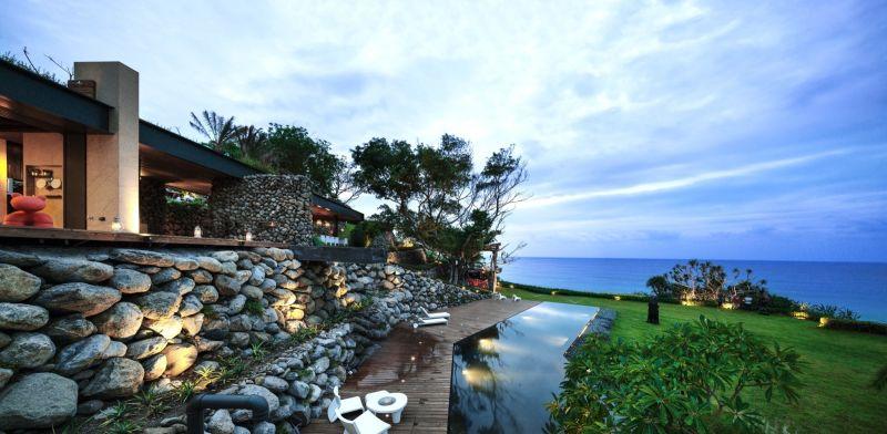 Beautiful tea house terrace