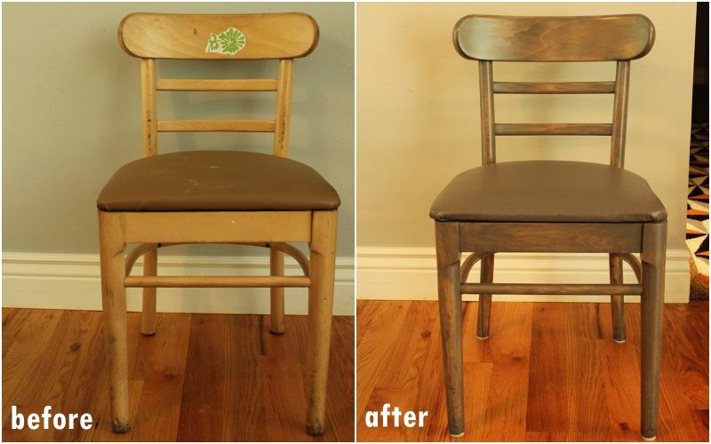 Before and after chair renovation