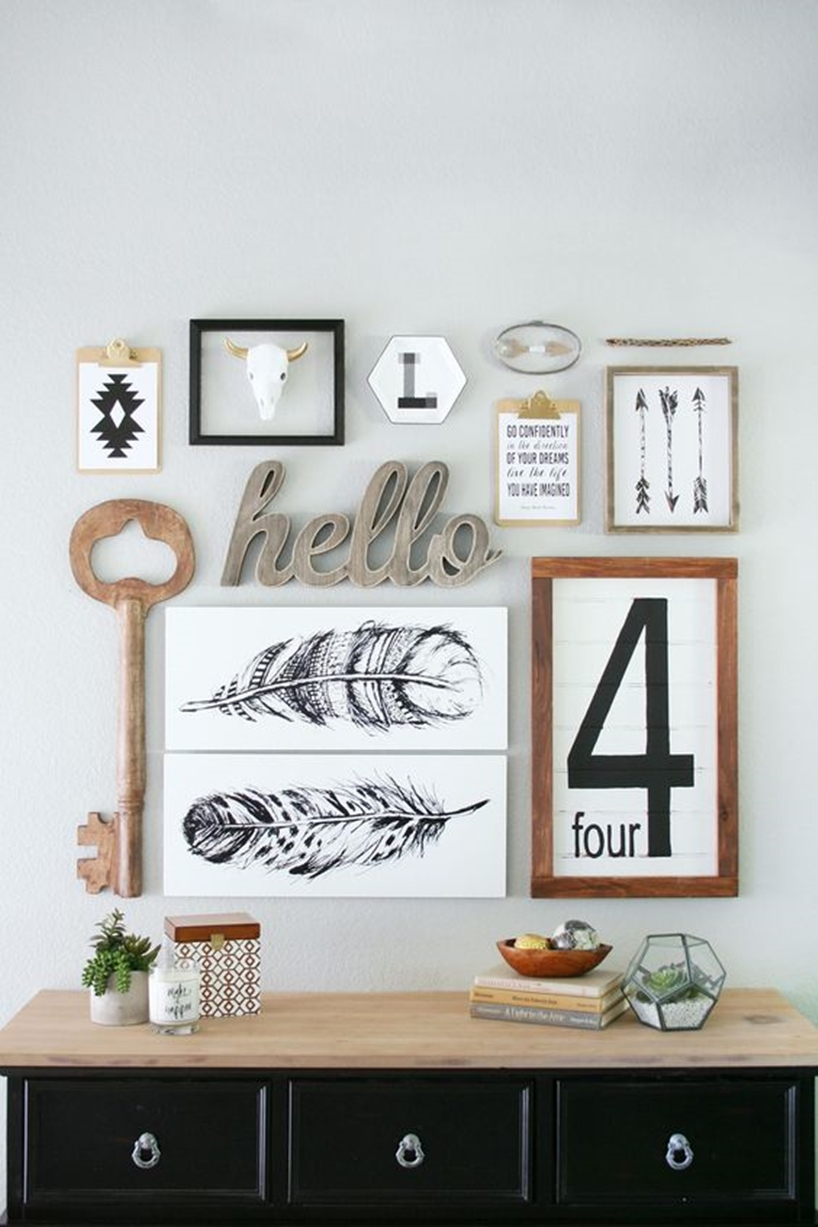 Small Key Wall Decor : Ideas to have the best rustic gallery wall