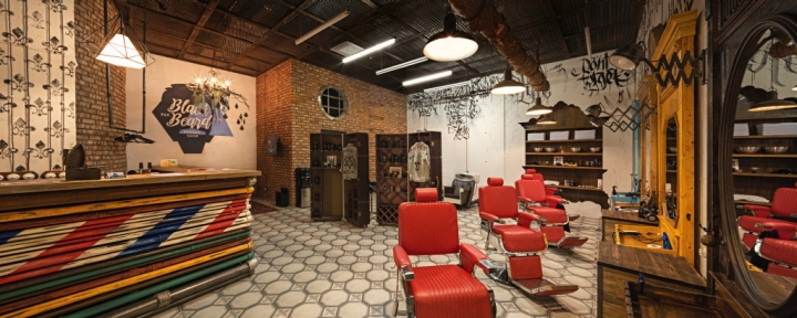 Black Beard barbershop in Moscow Design