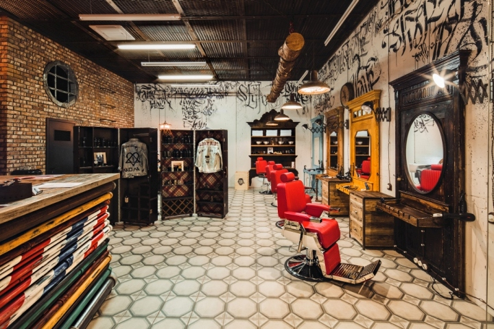 Black Beard barbershop in Moscow