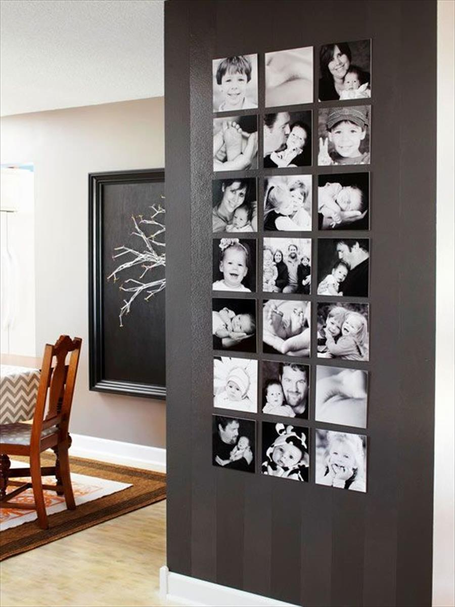 Black and white instagram wall