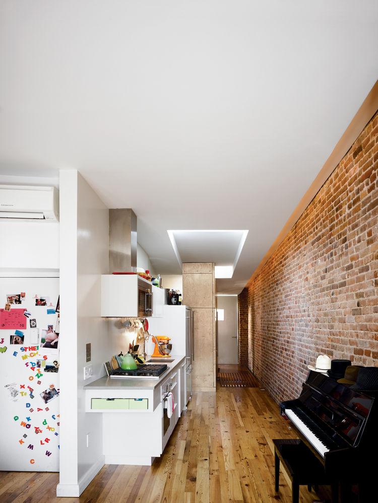 Brick wall apartment