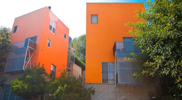 Bright Orange bold colors home exterior