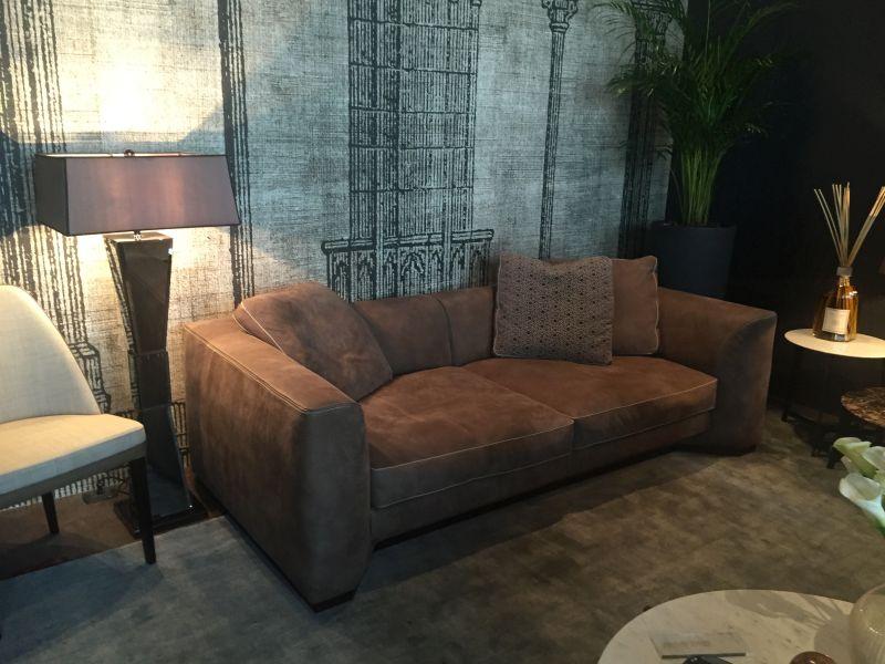 Brown Velvet Couch