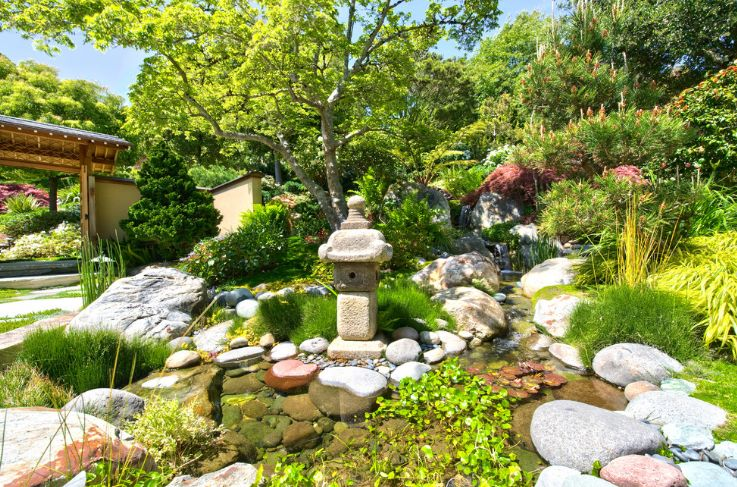 Classic Japanese water feature for garden