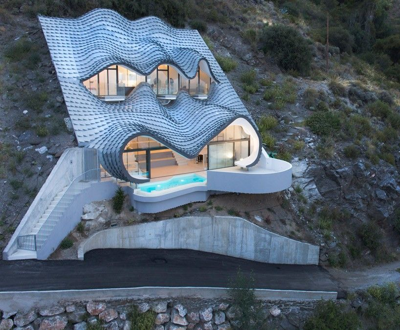 Cliff roof house