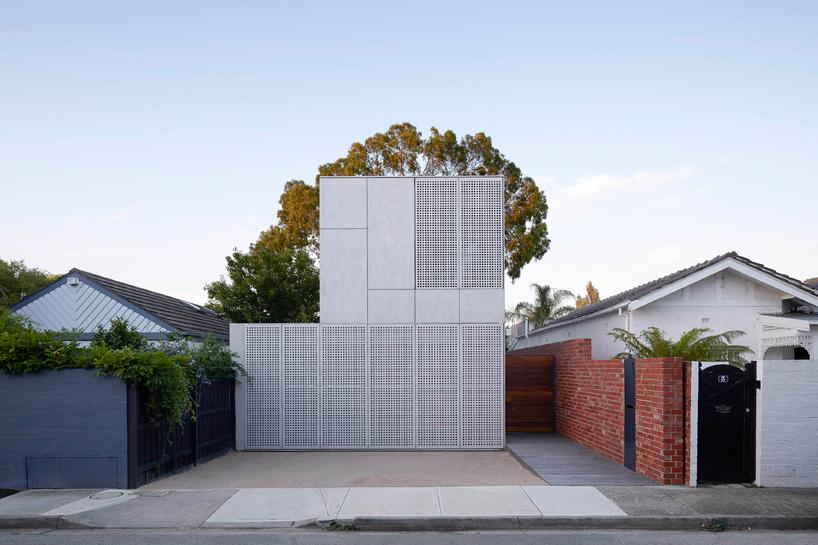 Concrete melbourne home facade