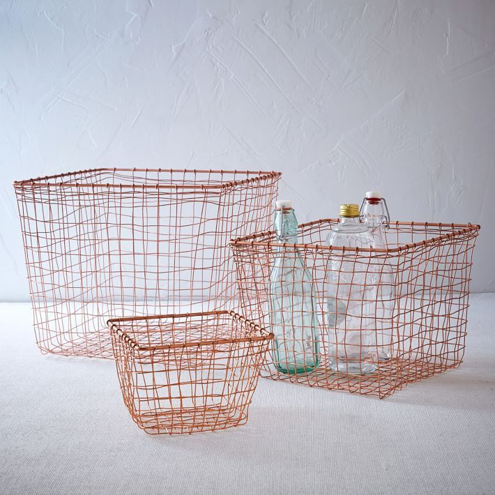 Copper mesh basket