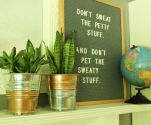 Ikea Hack: DIY Copper-Galvanized Planter Pots
