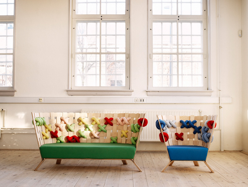Cross-Stitches Sofa and armchair