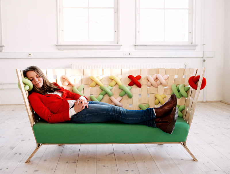 Cross-Stitches Sofa