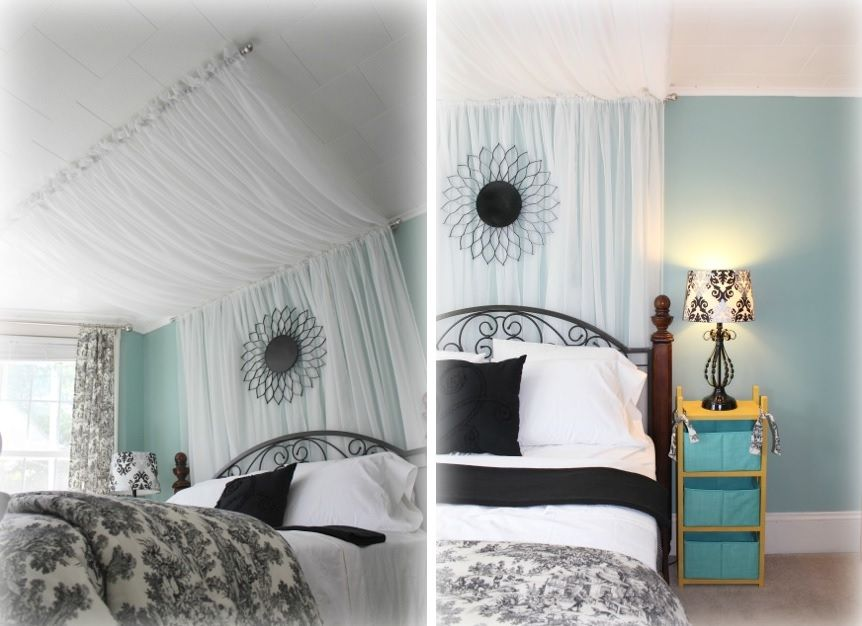 Curtain rods perfect to crate a canopy bed & 10 DIY Canopy Beds to Make You Feel Like Youu0027re On Safari