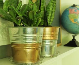 Ikea Hack: DIY Copper Galvanized Planter Pots