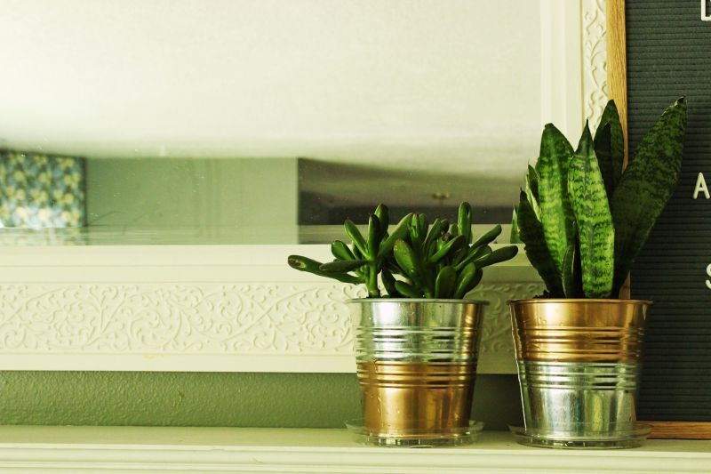 DIY Copper Planter Pot- copper detail
