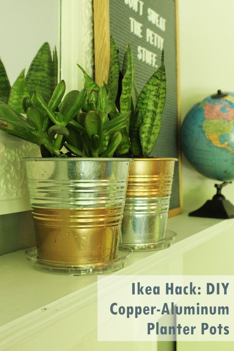 Charmant DIY Copper Planter Pot