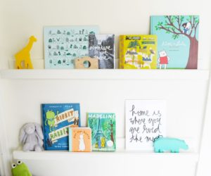 DIY Floating Bookshelves