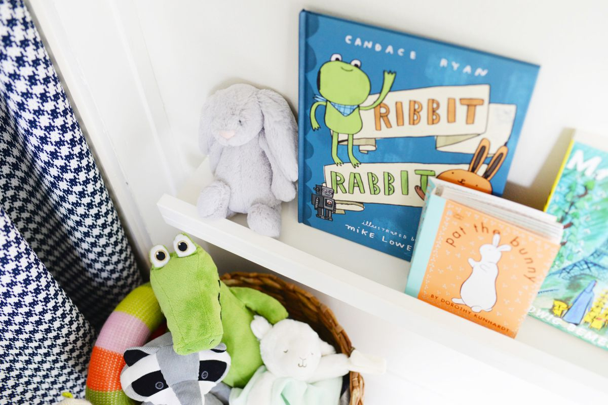 DIY Floating Bookshelves kids room