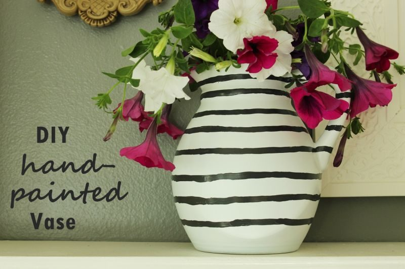 Diy Hand Painted Flower Vase A Fast And Easy Project