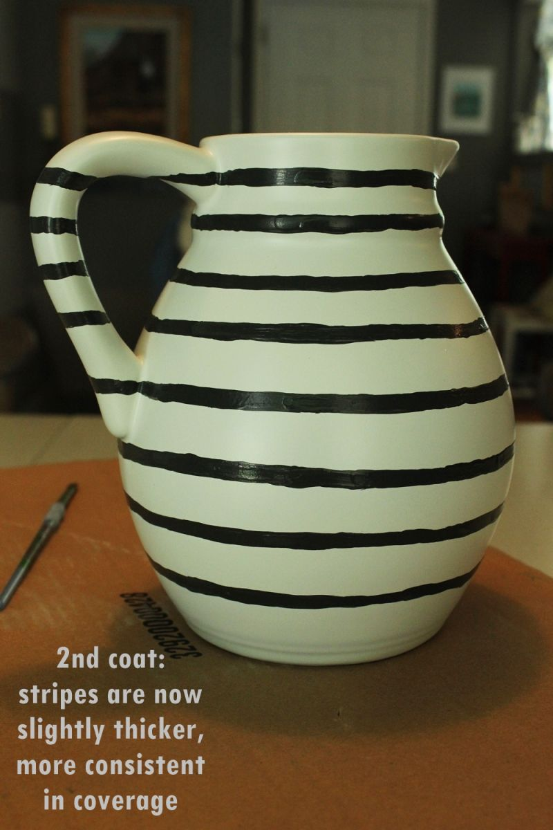 DIY Hand Painted Striped Vase Cool