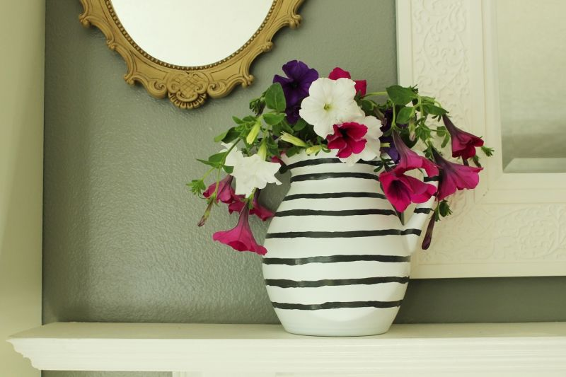 DIY Hand Painted Striped Vase Easy and Fun