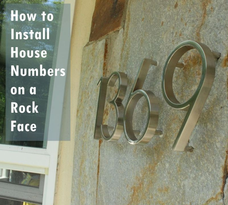 How To Mount Modern House Numbers On A Rock Face - Contemporary house numbers