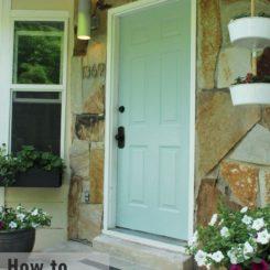 How to Paint an Exterior Door as in, Shut the Front Door!